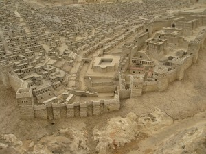 Model of ancient city of Jerusalem at the time of Jesus.