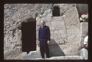 Kent Brown at the Garden Tomb, Jerusalem.