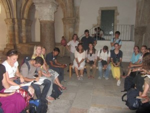 BYU Jerusalem Students hold a devotional on the institution of the sacrament at the Cenacle