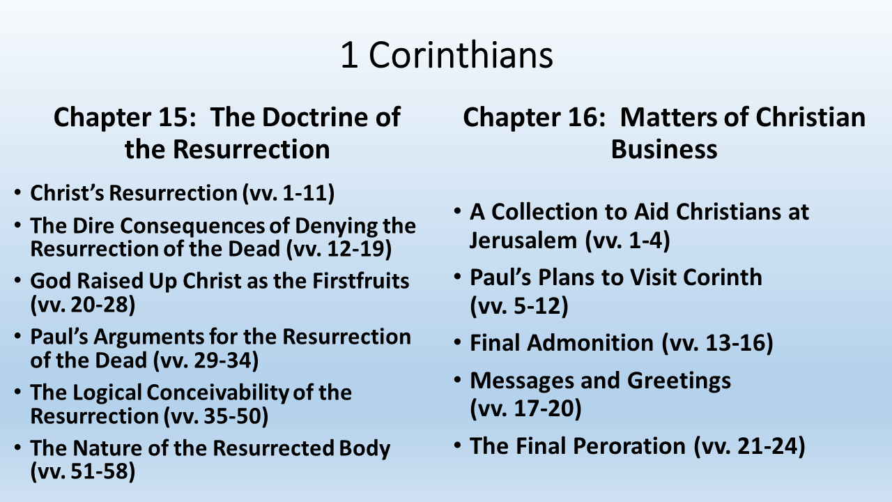 an analysis of bodily resurrection and corinthians • literary analysis: the bodily resurrection of jesus has not been disproven at paul's teachings in 1 corinthians require jesus' bodily resurrection: 1.